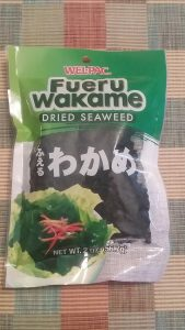 a bag of dried wakame