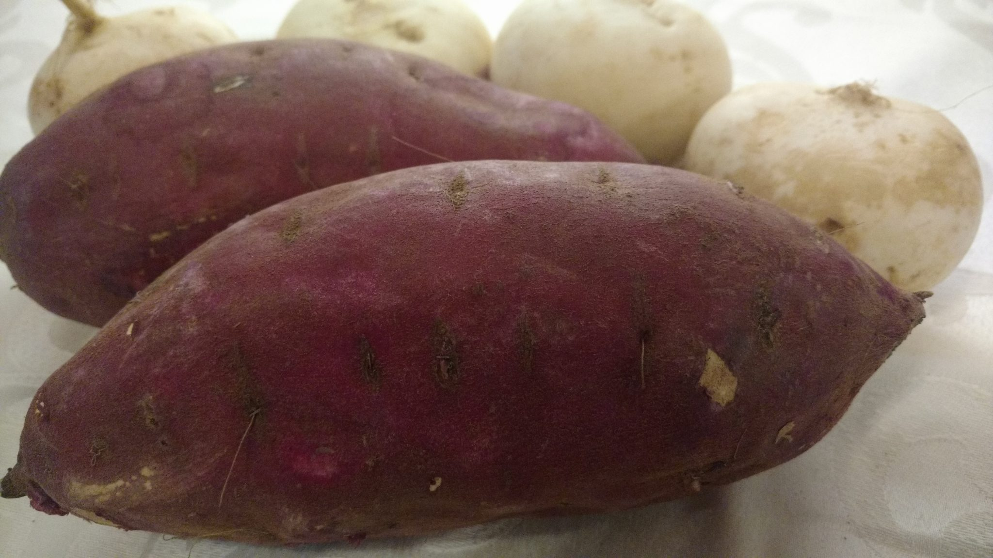 sweet potato with turnips --root vegetables